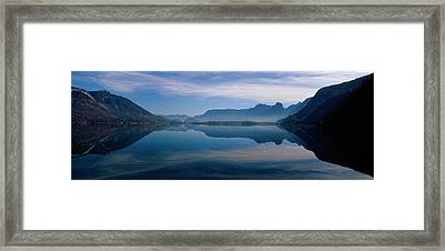 St. Wolfgangsee And Alps Salzkammergut Framed Print