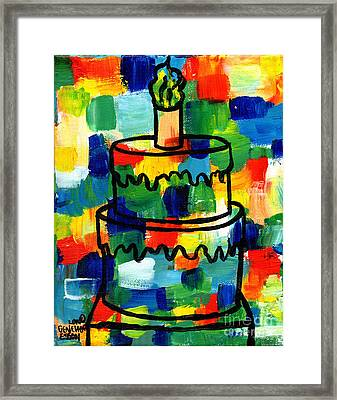 Stl250 Birthday Cake Abstract Framed Print