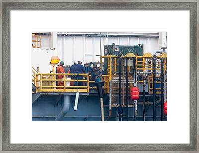 Stabbing Onto The Frac Hangar Framed Print