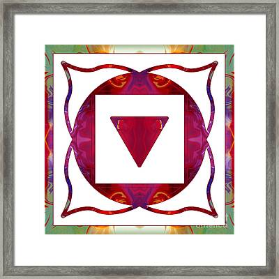 Stabilized Emotions And Thoughtful Feelings Abstract Chakra Art  Framed Print by Omaste Witkowski