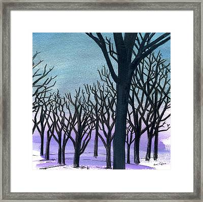 Stable Trees Framed Print