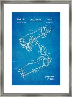 Stableford Golf Trolley Patent Art 1952 Blueprint Framed Print