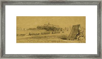 Stables And Negro Servants Tent, Hd.qtrs Army Of The Potomac Framed Print by Quint Lox