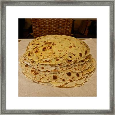 Stack Of Lefse Rounds Framed Print