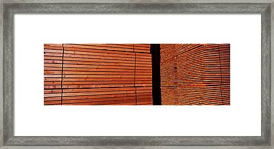 Stack Of Lumber At Sawmill, Eureka Framed Print by Panoramic Images