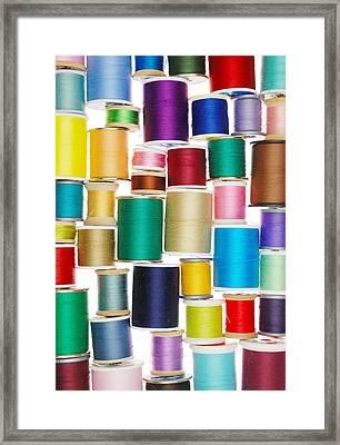 Spools Of Thread Framed Print