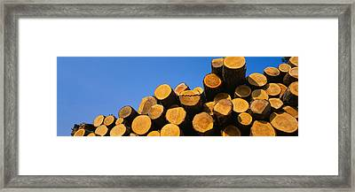 Stack Of Wooden Logs In A Timber Framed Print by Panoramic Images