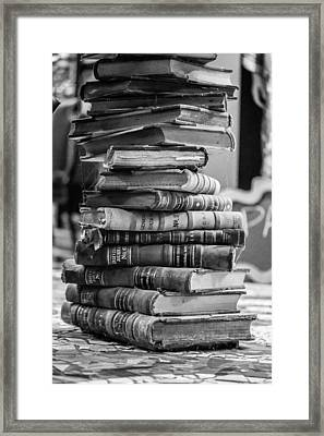 Stack Of Words Framed Print by Sara Hudock