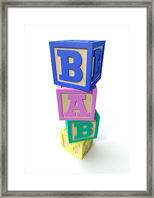 Stacked Baby Blocks Framed Print by Allan Swart