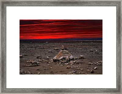 Stacked Beach Rocks Framed Print