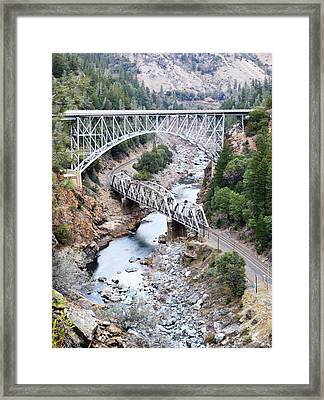 Stacked Bridges Framed Print