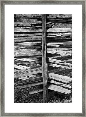 Stacked Fence Framed Print by Lynn Palmer