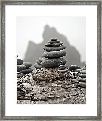 Stacked Framed Print by Kjirsten Collier