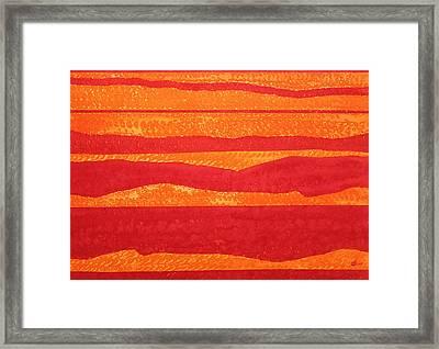 Stacked Landscapes Original Painting Framed Print