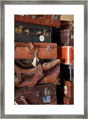 Stacked Framed Print by Lee Stickels