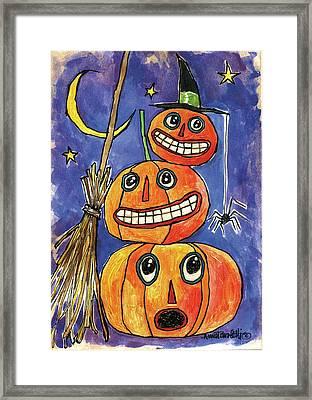 Stacked Pumpkins Framed Print