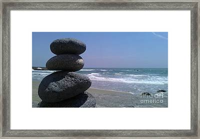 Stacked Rocks Framed Print by Chris Tarpening