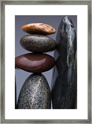 Stacked Stones 5 Framed Print by Steve Gadomski