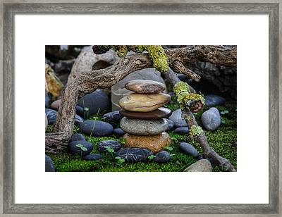 Stacked Stones A1 Framed Print by Marco Oliveira