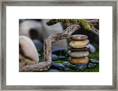 Stacked Stones A2 Framed Print by Marco Oliveira
