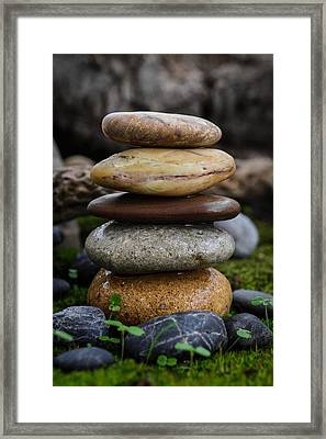 Stacked Stones A4 Framed Print by Marco Oliveira