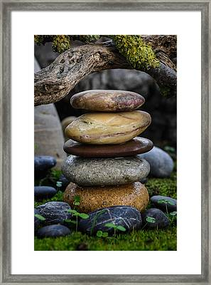 Stacked Stones A5 Framed Print by Marco Oliveira