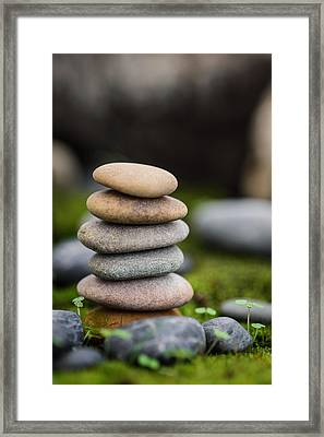 Stacked Stones B2 Framed Print
