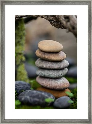 Stacked Stones B6 Framed Print by Marco Oliveira