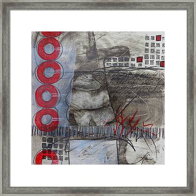 Stacking Rock Red I Framed Print