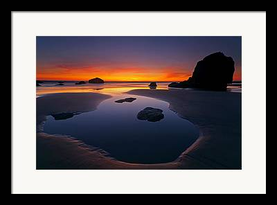 Seastacks Framed Prints