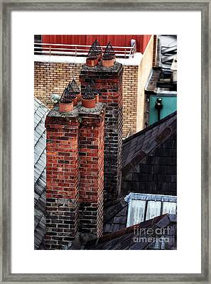 Stacks In Dublin Framed Print by John Rizzuto