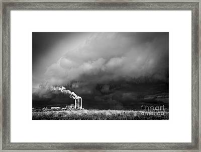 Stacks In The Clouds Framed Print by Marvin Spates