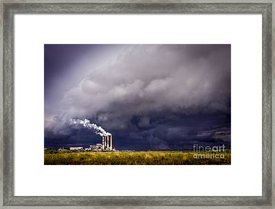 Stacks In The Clouds Framed Print