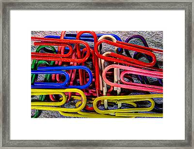 Stacks Of Clips Framed Print