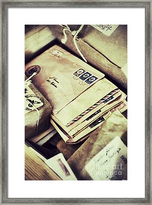 Stacks Of Old Mail Framed Print by Birgit Tyrrell