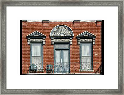 Stadelman Building - Plattsmouth - Nebraska Framed Print by Nikolyn McDonald