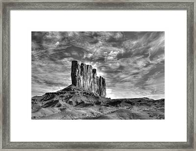 Stading Tall Framed Print