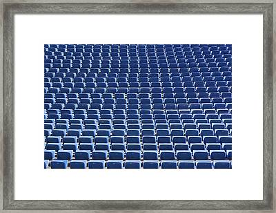 Stadium - Seats Framed Print