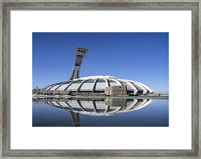 Framed Print featuring the photograph Stadium Afloat by Arkady Kunysz