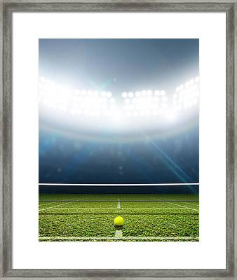 Stadium And Tennis Court Framed Print