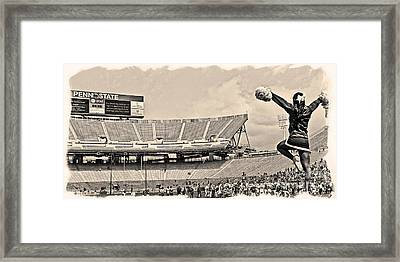 Stadium Cheer Black And White Framed Print