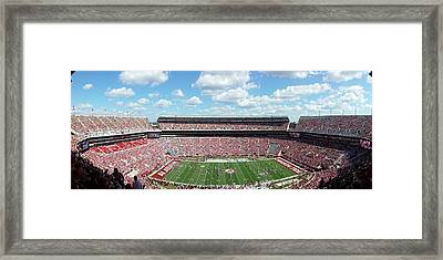 Stadium Panorama View Framed Print by Kenny Glover