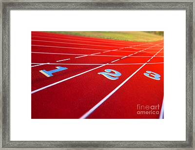 Stadium Track Framed Print