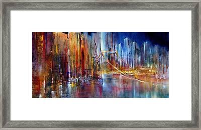 Stadtansicht Framed Print