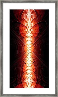 Staff Of Fire Framed Print