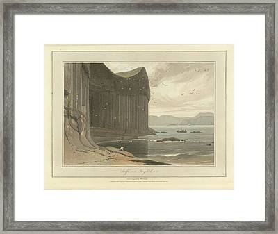 Staffa Coastline Near Fingal's Cave Framed Print by British Library
