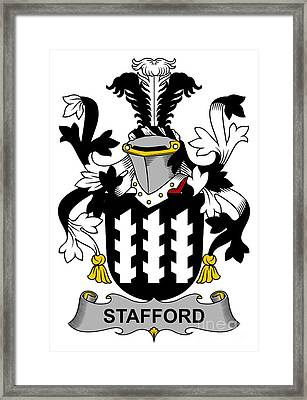 Stafford Coat Of Arms Irish Framed Print