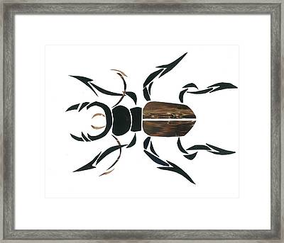 Stag Beetle Going Tribal Framed Print