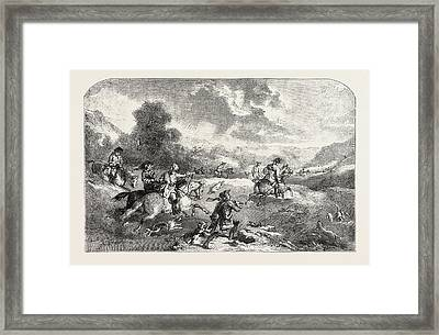 Stag-hunting In The Reign Of George II Framed Print