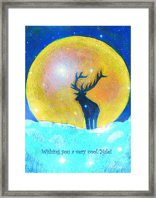 Stag Of Winter Framed Print